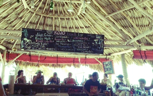 Rojo Beach Bar. Yep, you read that sign correctly :)