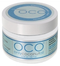 OCO coconut oil  helps remove heavy makeup.