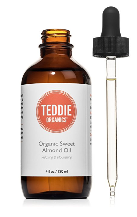Just add your fave essential oil to this  Teddie Organics Organic Sweet Almond Oil  for an aromatherapy body oil.