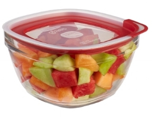 This  11.5-cup  healthy glass food storage container houses a big bunch o' somethin'!