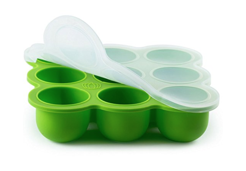 "The  ""Love Me, Feed Me""  baby food / ice cube tray makes mama a happy camper."