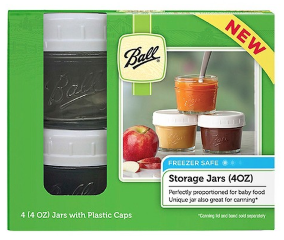 <strong>BALL</strong><br>Glass Baby Food Jars