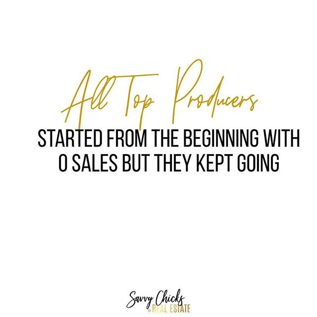 Are you new to Real Estate or any business for that matter? Just remember that everyone killing it today started from the beginning with 0 sales but they kept going until they got one and continued to repeat. So stop saying how new you are and show people why you deserve to have their business. 🤝 www.savvychicksinrealestate.com . . . . . . . . . . . . . . #realtors #realtorlife #socialmediawealthstrategist  #socialmediaforrealtors #chicagorealtor #realtormom #socialmediatraining #chicagorealtor #womeninrealestate  #realestatecoach #realestateconsultant #brandingtips #exprealty #womenrealtors #kellerwilliamsrealty #socialmediastrategy #googlealerts #remaxagent #newagent #realestatecareer #canva #savvychicksinrealestate #ladiesinrealestate #womenofrealestate #socialmediagraphics #leadgeneration