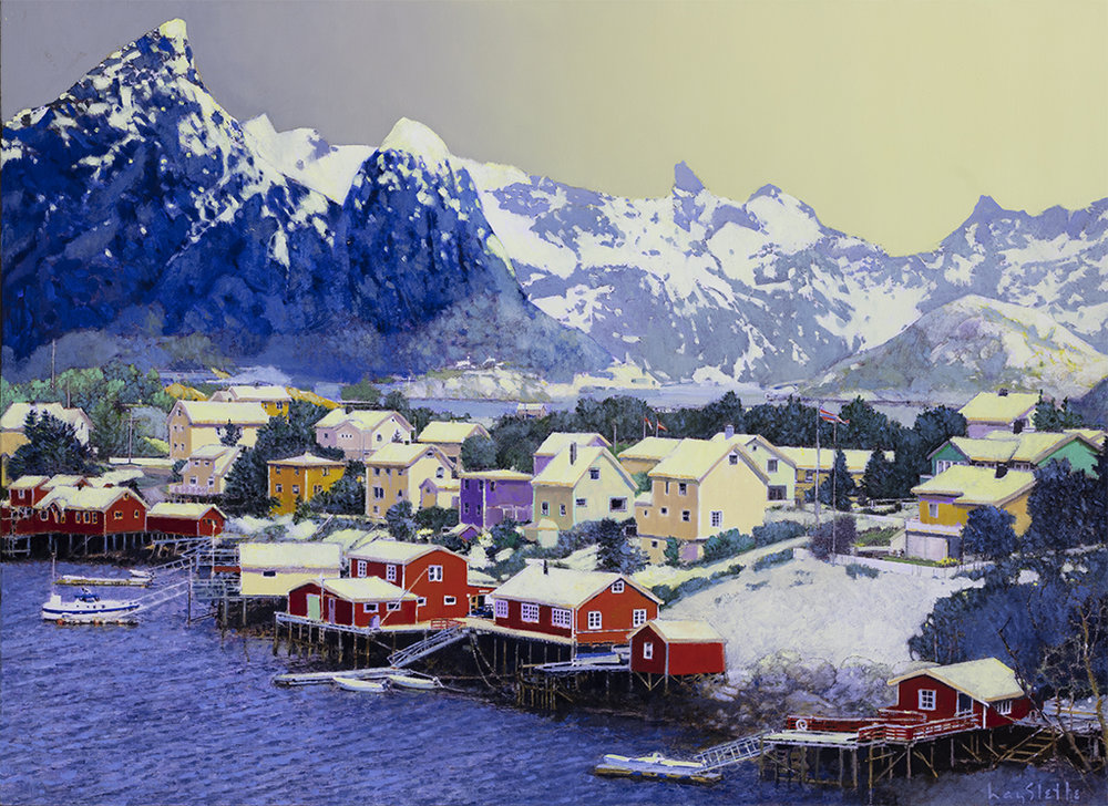 hmoc 1684 Reine, Above the Arctic Circle 32x44