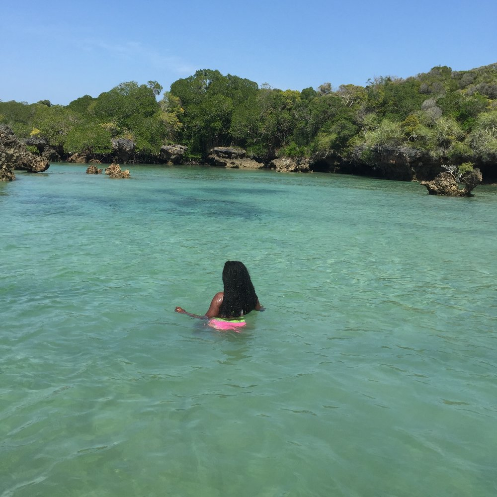 In a lagoon