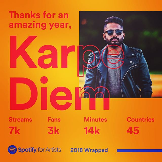 Been a #goodyear. Lot of #progress in the #studio. #Excited about the new #records planned for #2019 #spotify #streaming #karpediem