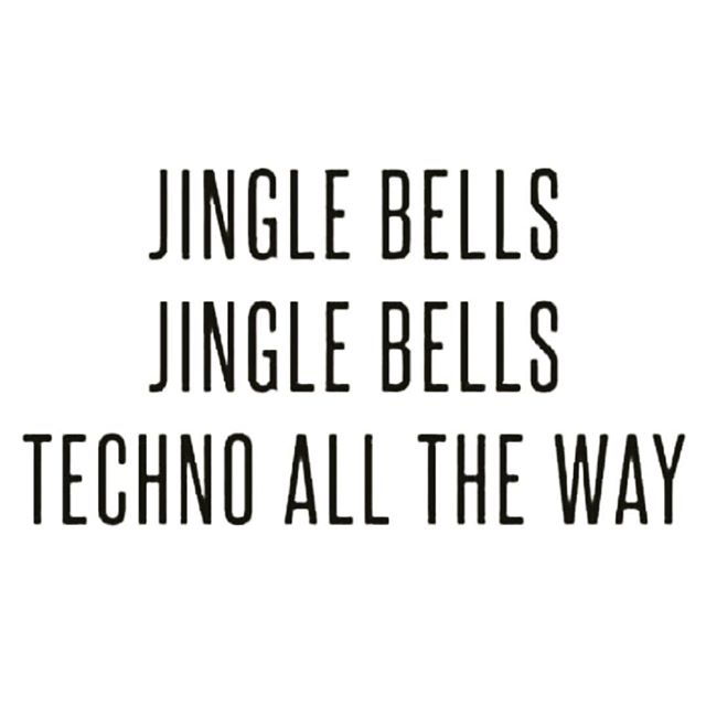 The only #bells we need #cowbell #technobell #jinglebell #santa #xmas #christmastree