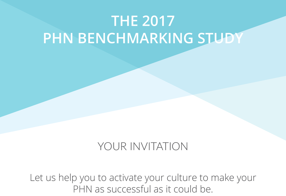 2017 PHN Benchmarking Study Invitation