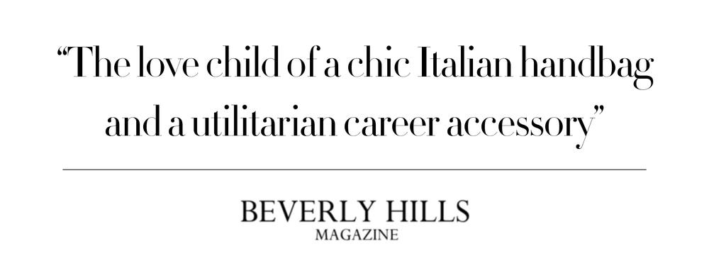 """The love child of a chic Italian handbag and a utilitarian career accessory"""
