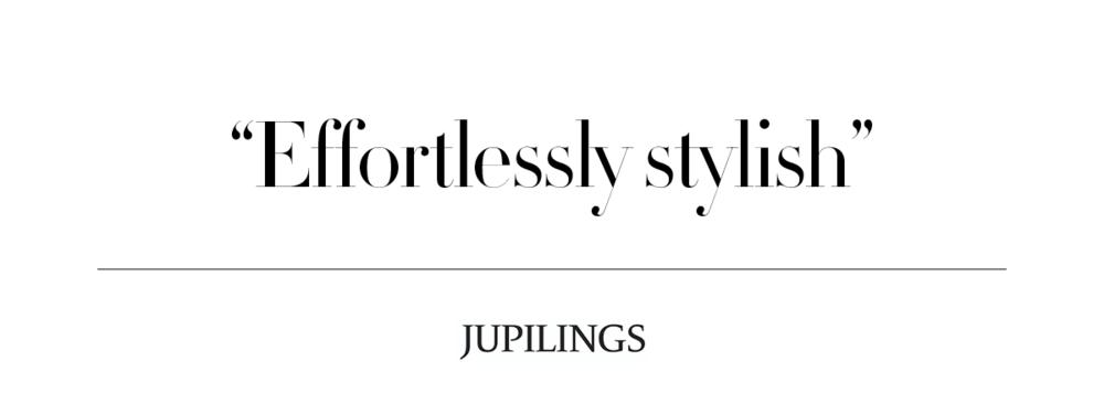 """Effortlessly stylish"""