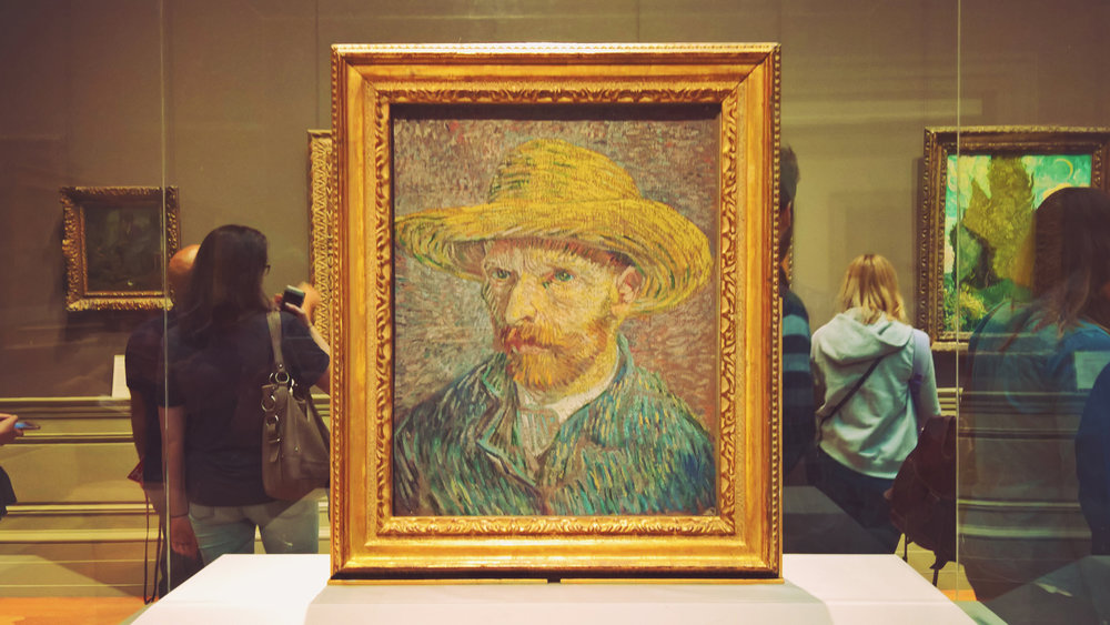 Vincent van Gogh's 1887 Self-Portrait with a Straw Hat at The Metropolitan Museum of Art, NYC | OMventure.com