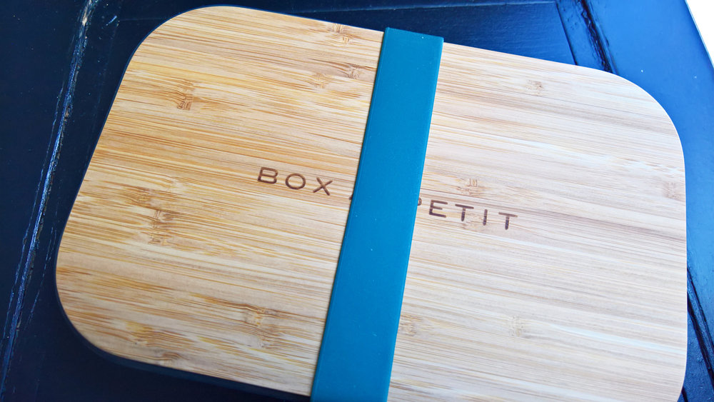 The Beautiful Box Appetit Stainless Steel Sandwich Box with Bamboo Cutting Board by Black+Blum | OMventure.com