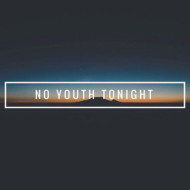Pastor Jeremy and Hope are sick tonight, so Youth is postponed until next week! We will miss you all and can't wait til next week!!!