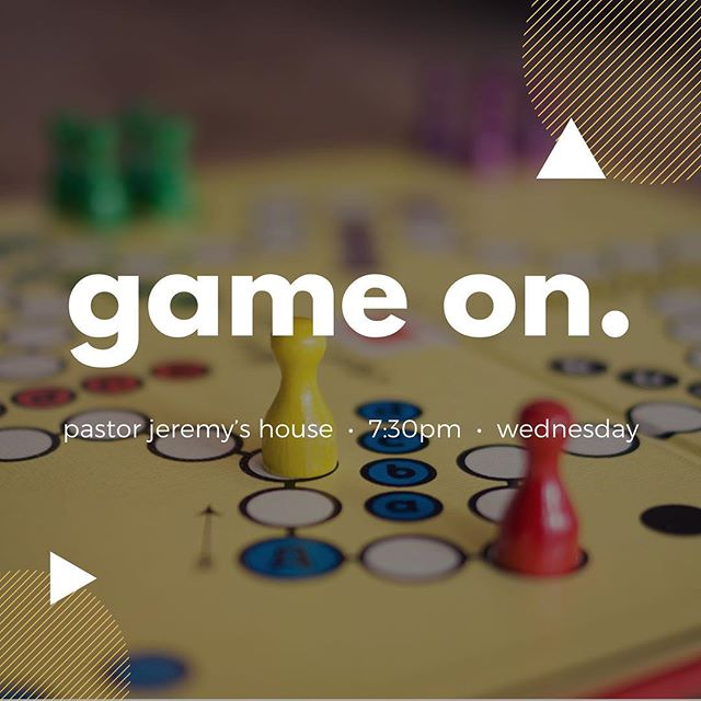 Game Night!!! Tomorrow night. 7:30pm. Pastor Jeremy's House (PM us if you need the address) See you there!