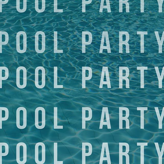 Don't forget: THIS Saturday is our annual end of summer POOL PARTY! We can't wait!