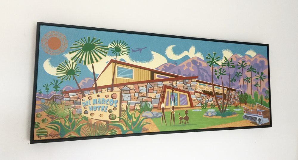 'Del Marcos Hotel'print by Nat Reed