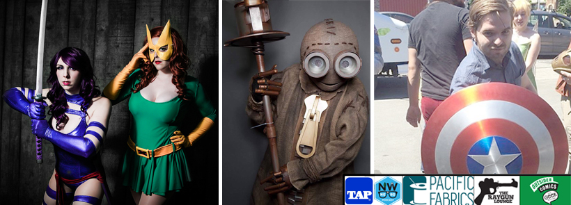 Cosplayers Jerikandra, Abi Sue and Ryan Wells, along with comic artist Corey Lewis will be judges March 4 at NW NERD's after party and cosplay contest. (Photos courtesy of Jerikandra, Abi Sue, Ryan Wells and Corey Lewis)