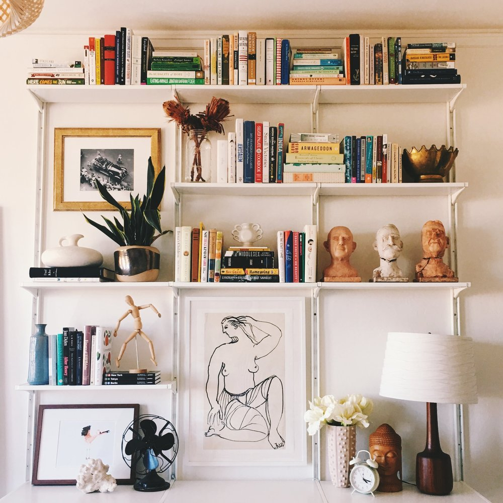 how i designed wall mounted shelving with ikea eliza kern design - Wall Hung Bookshelves