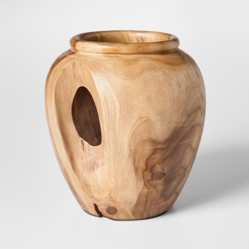 17. Wood Vase ($24)