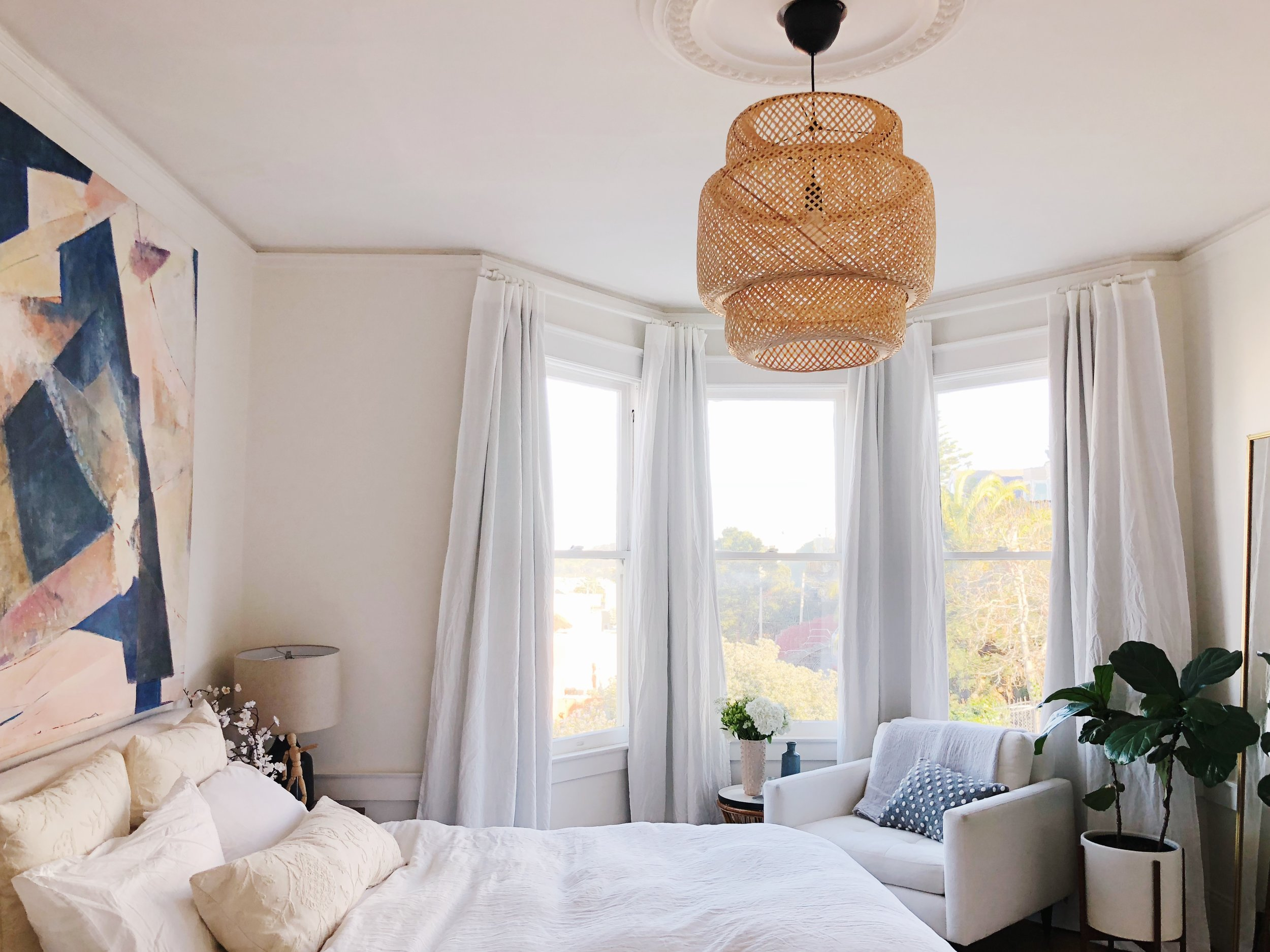 How To Hang Blackout Curtains On A Bay Window