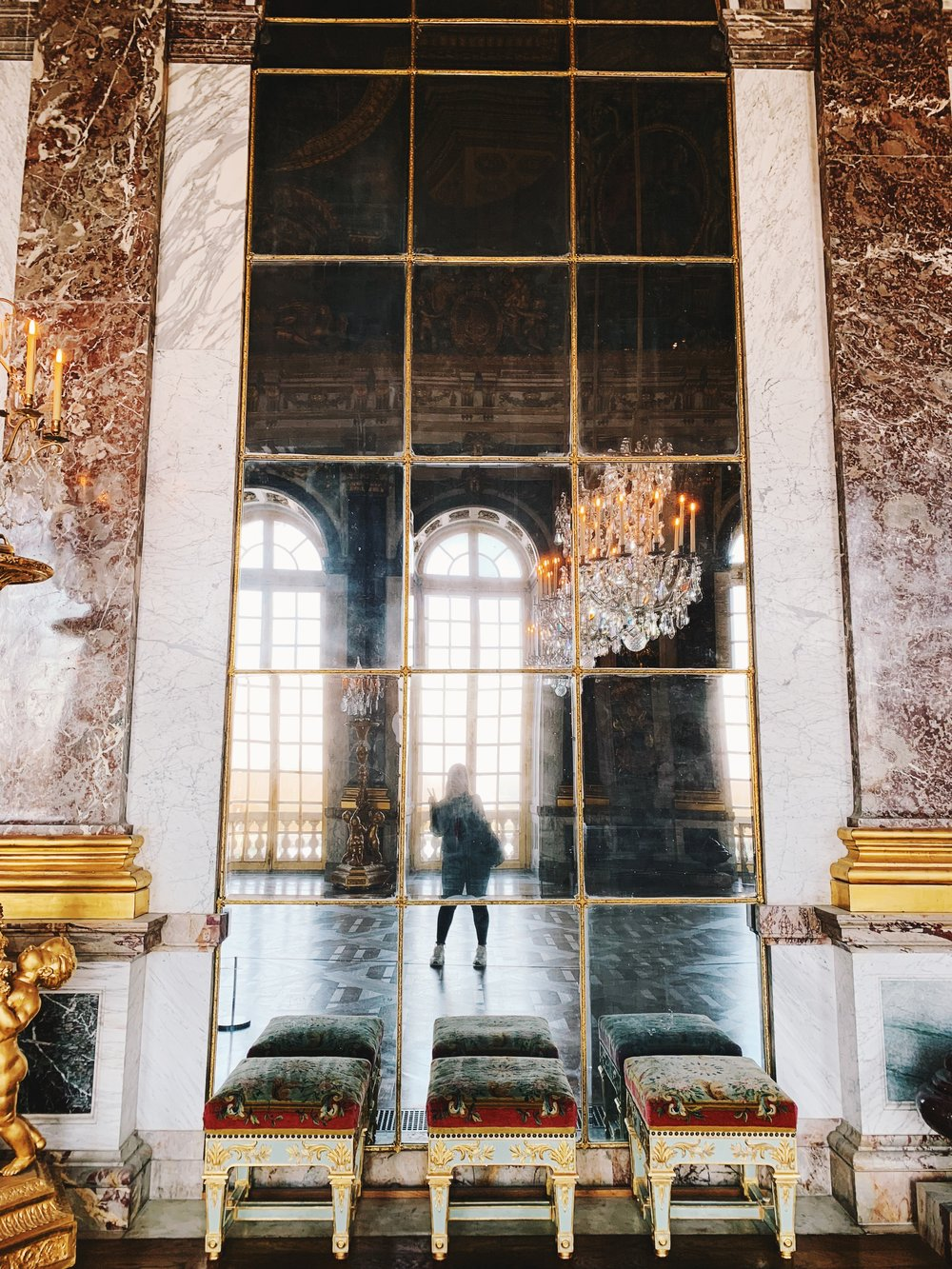 Selfie in the Hall of Mirrors.