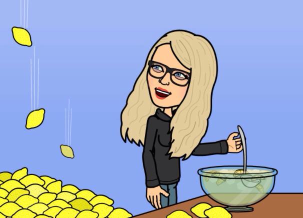 Michelle Cashman making lemonade from lemons