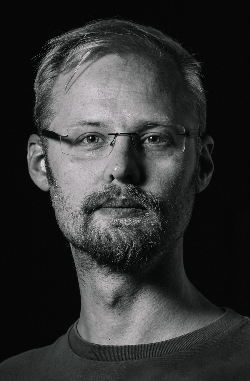 Urho Konttori Founder, CEO Black and white profile picture JPG version