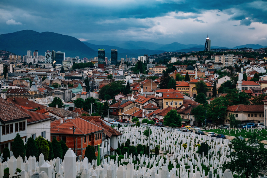 View of Sarajevo from the city's eastern hillsides (Photo by Mel Hattie)