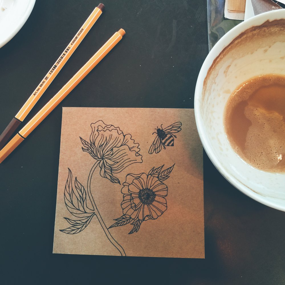 A cafe, a croissant and a week to sketch in Paris - I'm in absolute heaven!