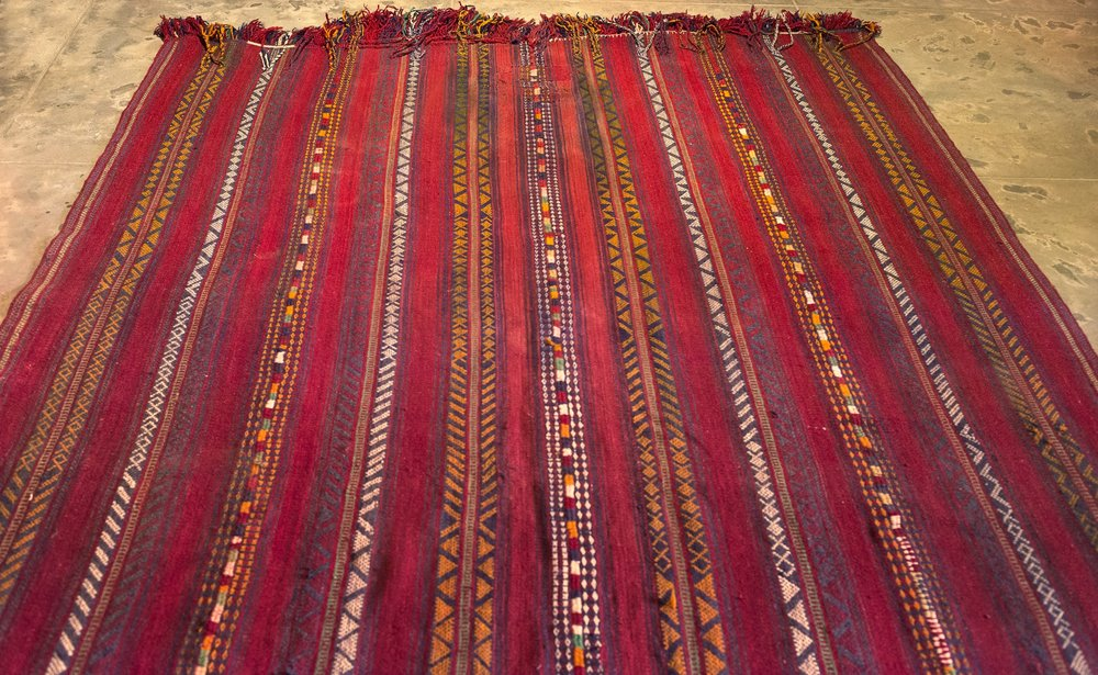 Rare Antique Afghani Kilim 6x9 ft 95k (2).jpg
