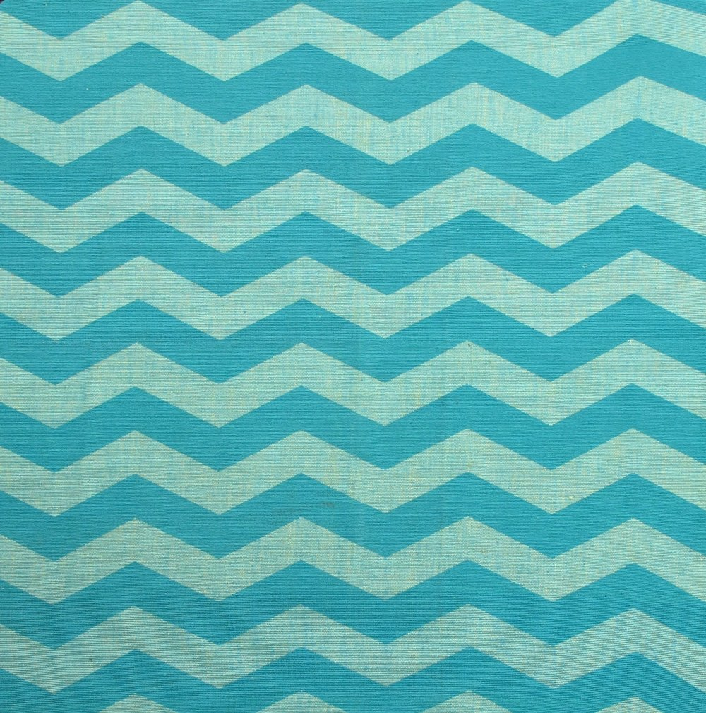 Lazy Chevron aqua