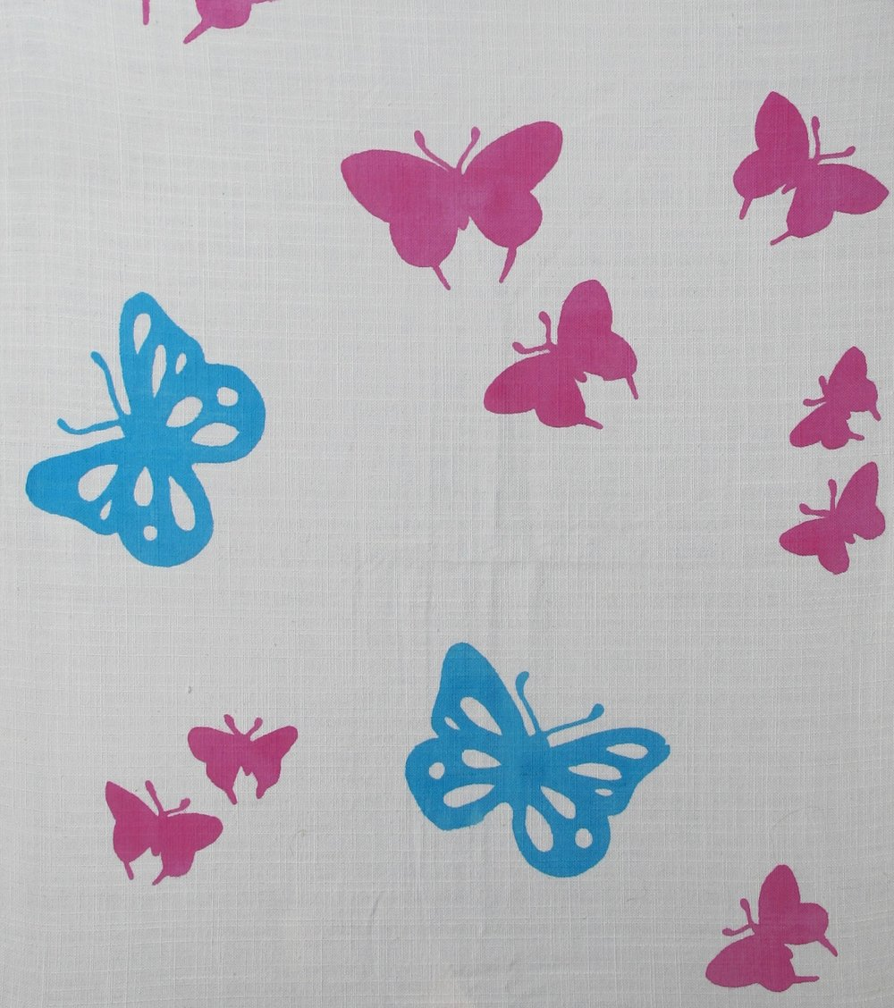 Butterflies pink blue