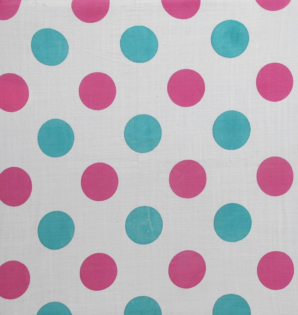 Dots pink and green