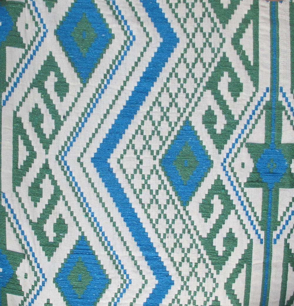 Tribal Aztek blue green