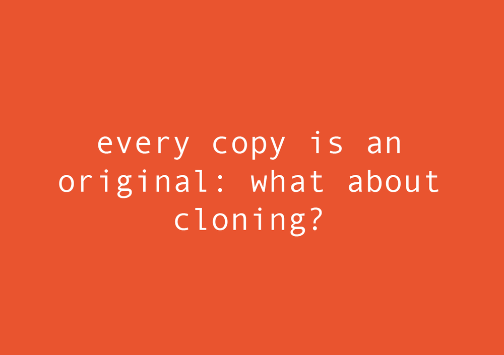 EVERY COPY IS AN ORIGINAL: WHAT ABOUT CLONING MCQUEEN?