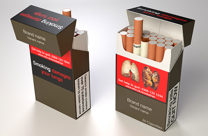 Concept Imagery of cigarette packaging - courtesy of It's Nice That