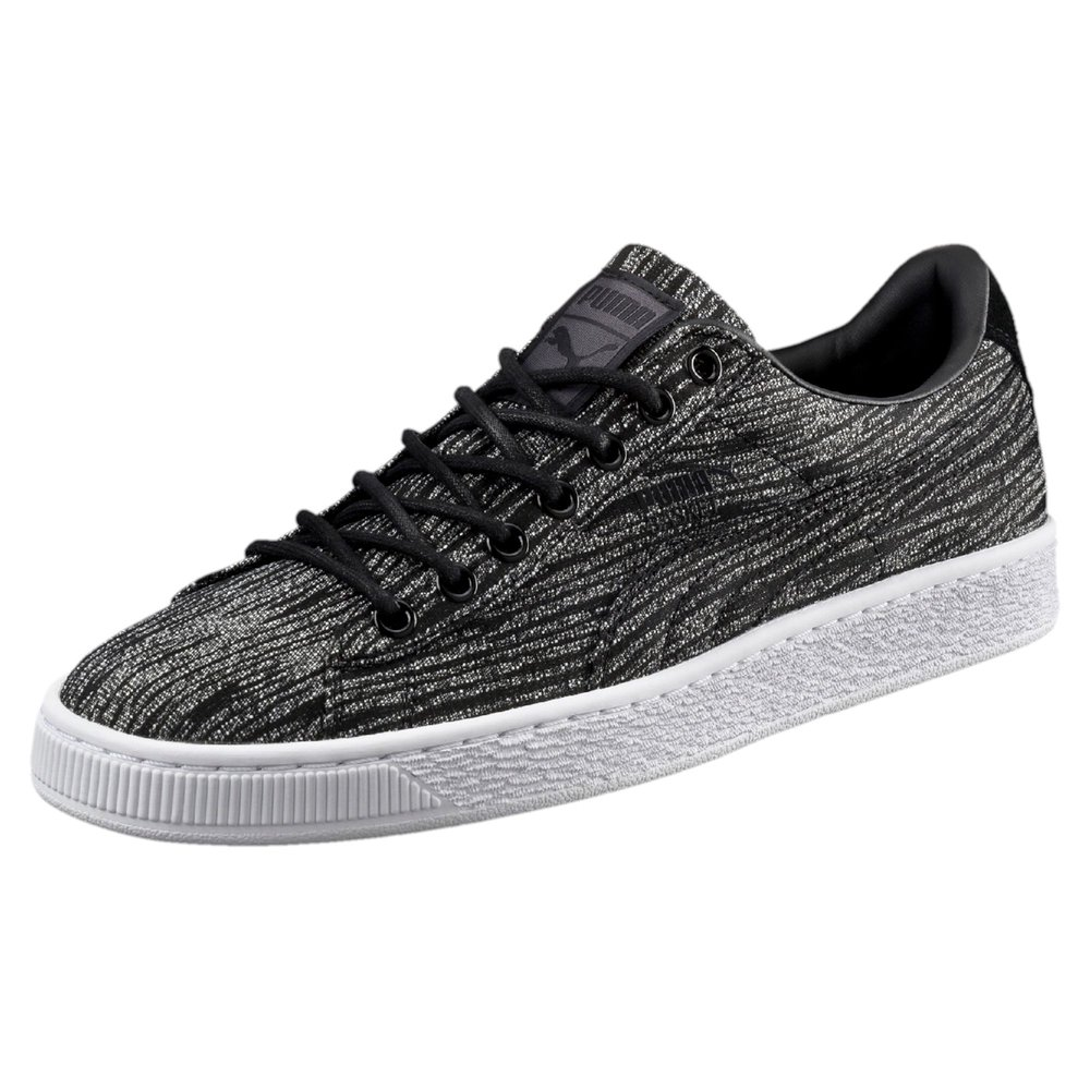 Puma Mens Basket Classic Tiger Mesh Trainers Asphalt/Black  here