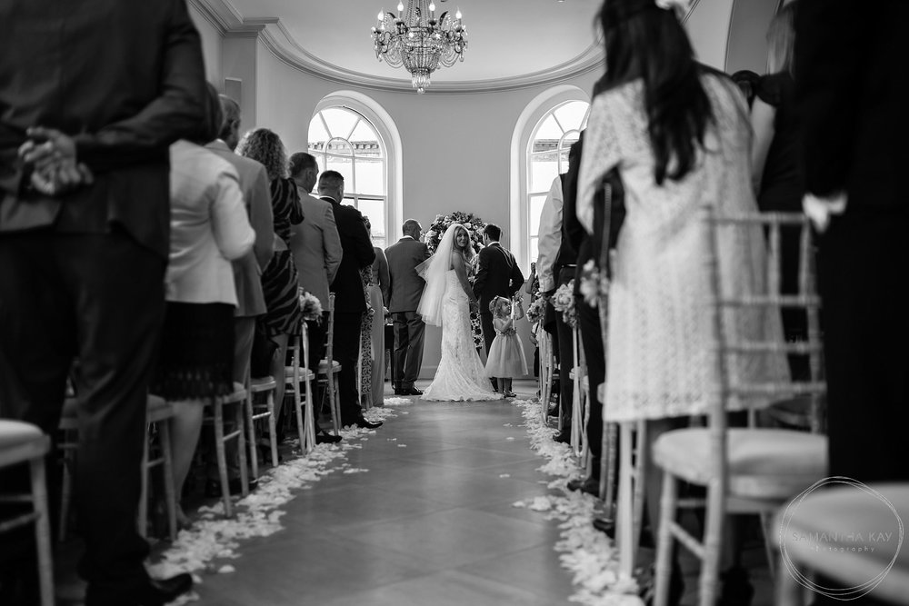 Iscoyd Park wedding ceremony