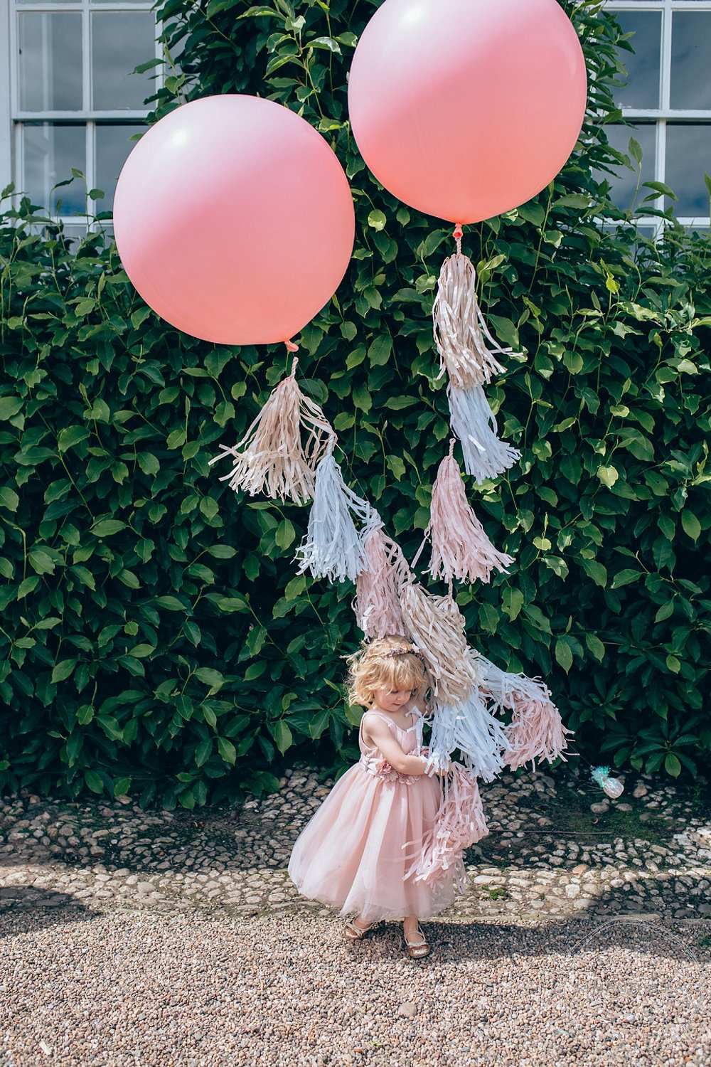 Giant pink wedding balloons