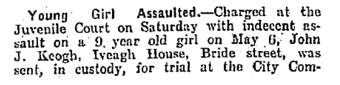 Freemans Journal, May 5th,  1922