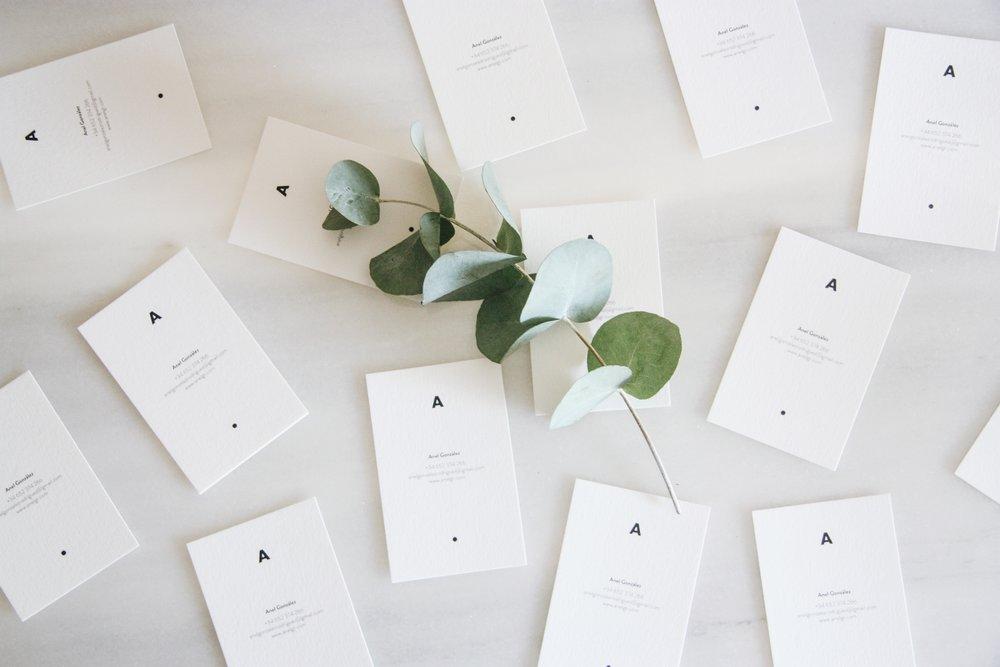 Business Card   Proyecto personal. Tarjetas de presentación cocinadas con mucha dedicación y amor.