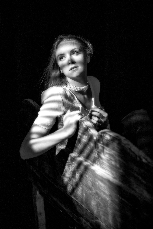 Creative black and white Fashion portraits studio luxe suffolk