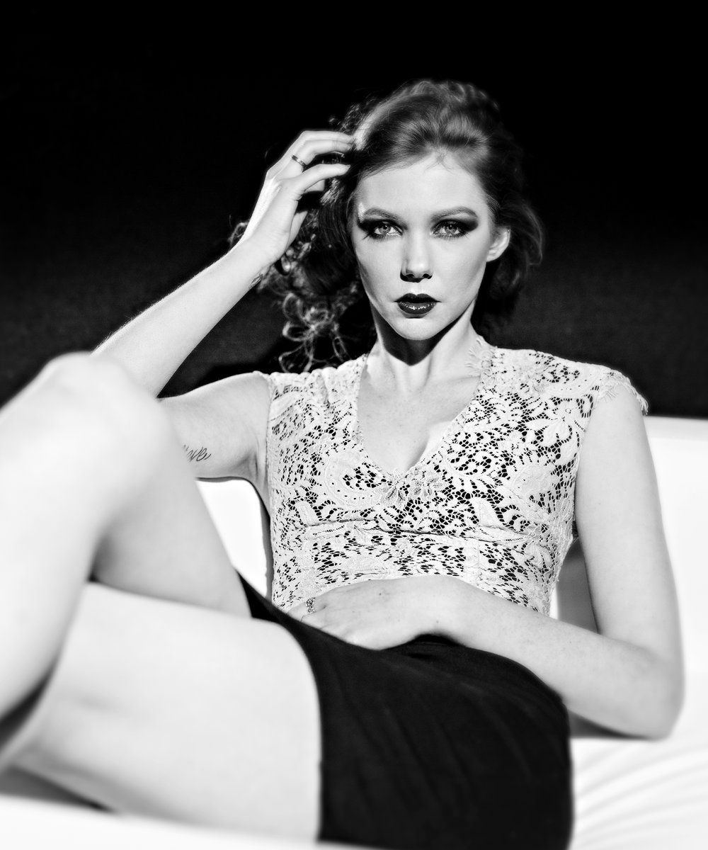 Creative Film Noir Fashion Portraits.