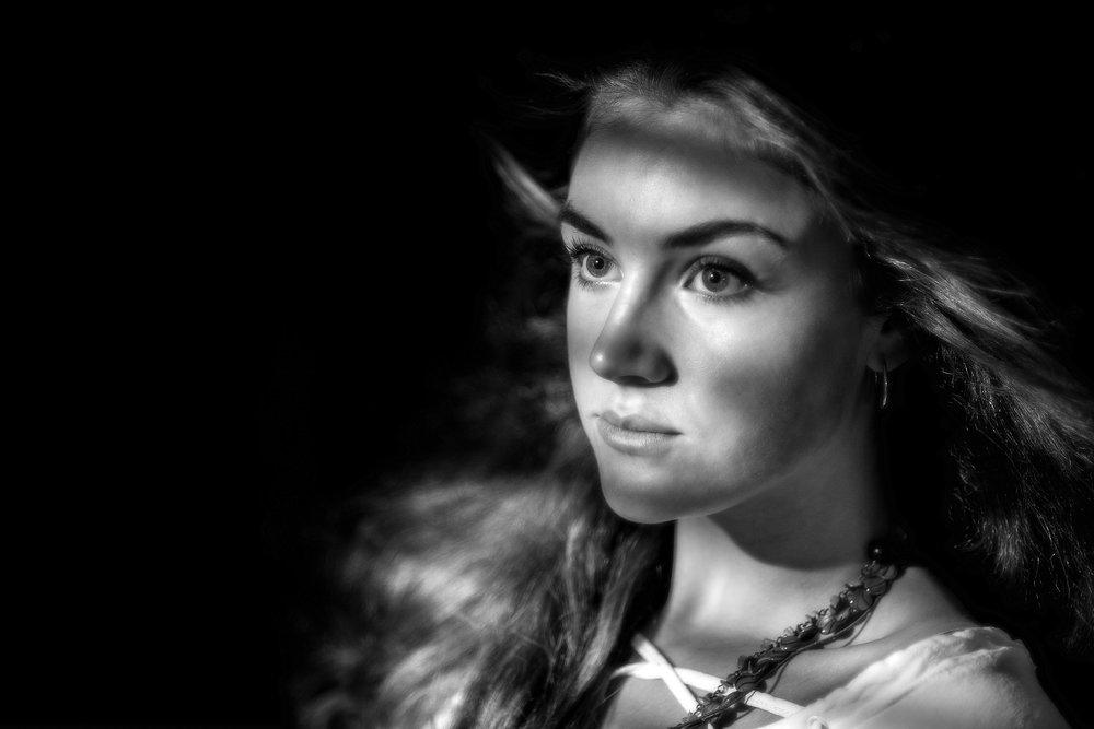 Creative Film Noir Fashion Portraits.