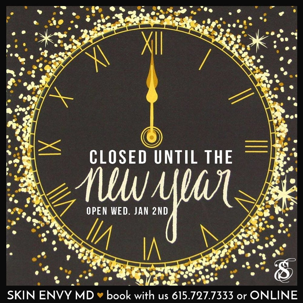 Closed until the new year - open wed Jan 2nd - Botox Dysport Juvederm Restylane by Skin Envy MD Nashville.jpg