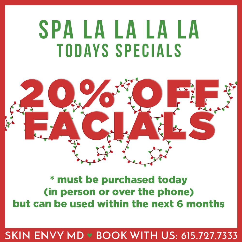 Spa la la la la - 20% off facials - Botox Dysport Juvederm Restylane by Skin Envy MD Nashville.png