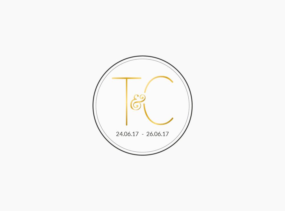 Tamara & Craig Wedding - Logo Design | Graphic Design