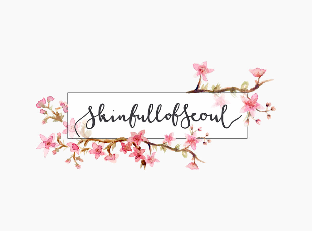 Skinfull of Seoul - Watercolour Logo Design