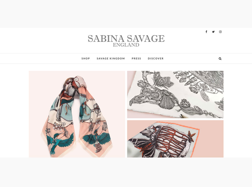 Sabina Savage - Website Design