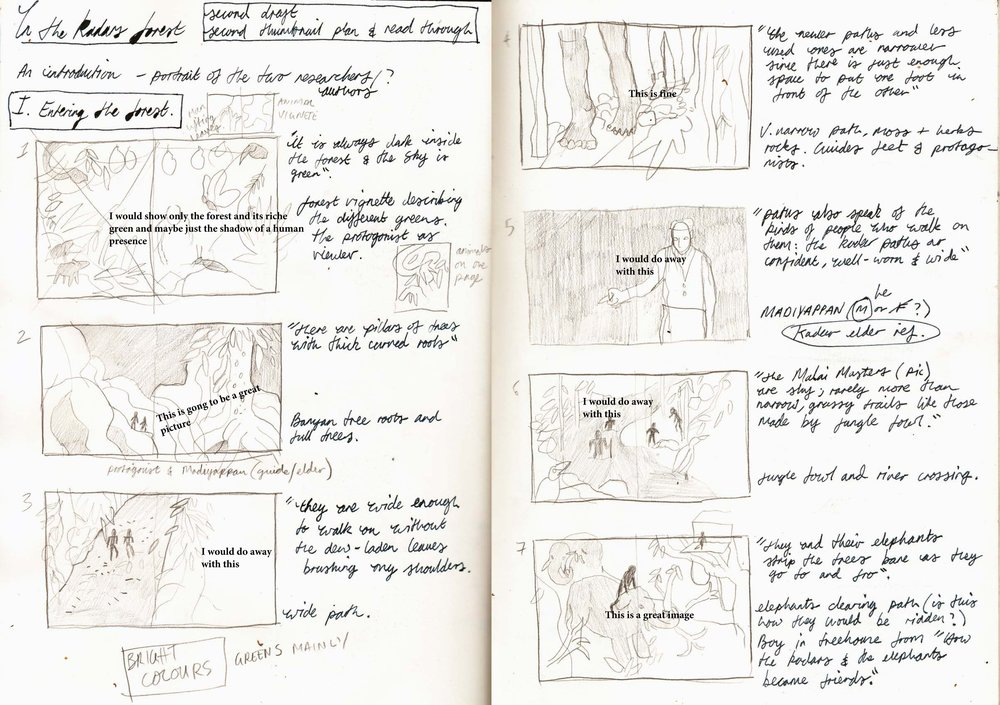 Storyboard with V.Geetha's annotations